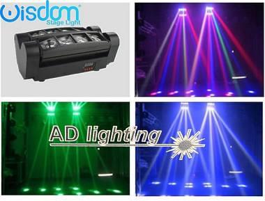 effetti luce a testa mobile multiraggio rush multi beam mini spider 8 raggi beam
