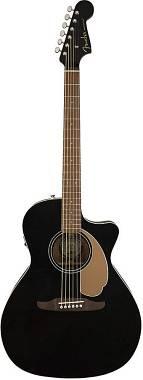 Fender Newporter Player - Jetty Black - Chitarra Acustica Elettrificata