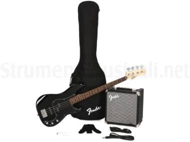 Fender Squier Affinity Precision Bass Pj Rumble Pack Black - Kit Con Basso Elettrico Nero, Amplifica