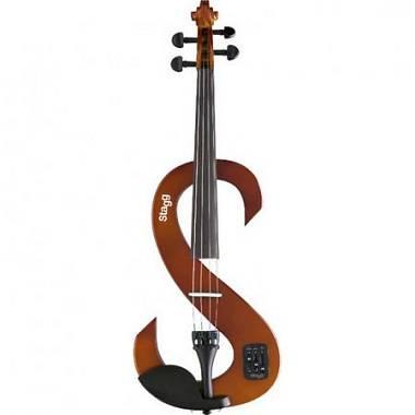 Stagg EVN 4/4 VBR Violino Elettrico Completo 4/4 Violinburst