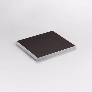 AMABILIA PT38 50x50 cm Ripiano in multistrato di betulla profilato in alluminio