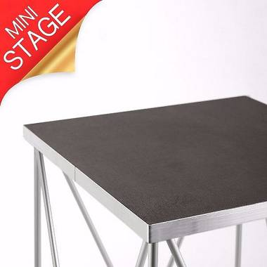 Amabilia ST.130 60x60 H40 Tavolino supporto richiudibile per casse/teste mobili
