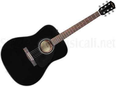 Fender Cd60 V3 Black - Chitarra Acustica Nera