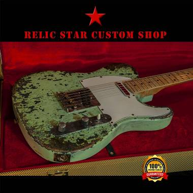 RELIC STAR CUSTOM SHOP t-'50 - surf green on lake placid blue Telecaster