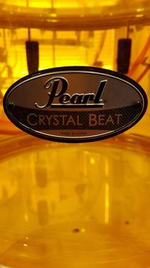 Pearl crystal beat batteria rara con drum lite (luci)