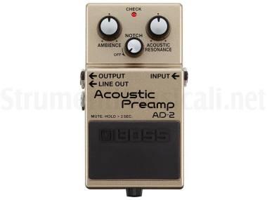 Boss Ad-2 Acoustic Preamp - Preamplificatore A Pedale Per Chitarra Acustica