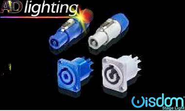 connettori tipo Neutrik powercon volanti e da pannello in out (bianco blu) NAC3