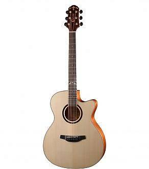Crafter Guitars HTE-650/N chitarra acustica elettrificata solid top