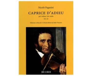 Hal Leonard Caprice D'Adieu pe violino v.1 Nicolò Paganini