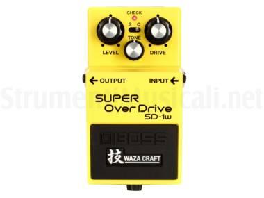 Boss Sd-1w Super Overdrive (waza Craft) - Effetto Overdrive A Pedale Per Chitarra