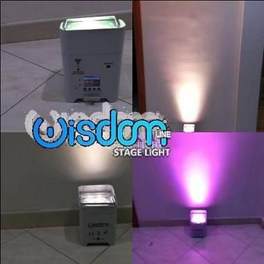 Smartbat par led wireless a batteria 6x18 led da 6 colori 6in1 rgbwa uv