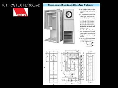 Audio Definition Home kit Fostex FE 166E