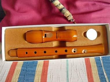 Flauto dolce soprano Hohner vintage in legno di pero