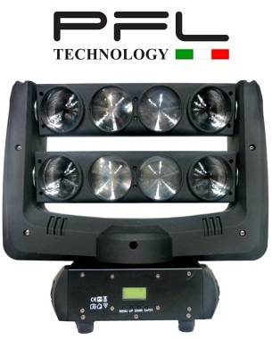 Testa Mobile a led 8 x 10 W - Spider 8 RGBW PFL TECHNOLOGY OFFERTA NUOVO