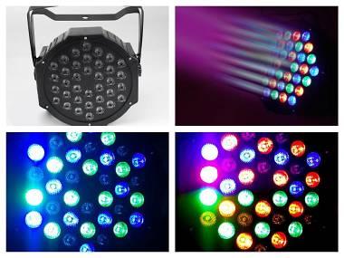 Effetti luce discoteca dj par led 36x1 rgb strobo piano show proel prolight