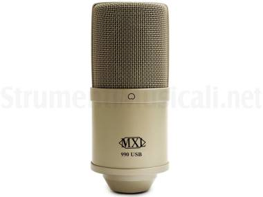 Mxl 990 Usb - Microfono Cardioide A Condensatore Usb