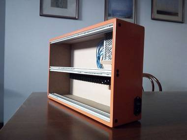 Eurorack case per moduli 6 u powered orange