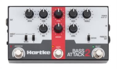 HARTKE - BA2 - Bass Attack 2 BASS PREAMP/DIRECT BOX con overdrive effetto a pedale per basso elettri