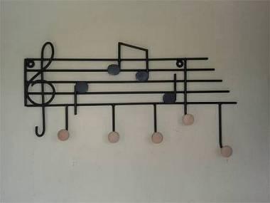 attaccapanni pentagramma ferro battuto chiave di violino chiave di basso