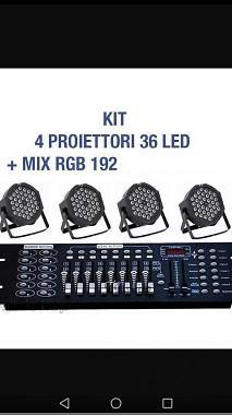 NUOVI. Kit par led 36x3w rgb flat + controller DMX 512 SPEDIZIONE INCLUSA
