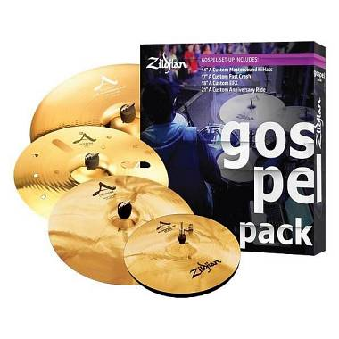 "Zildjian Cartone 5 A Custom ""Gospel"" (AC0801G): ride + hi-hat + 2 crash"