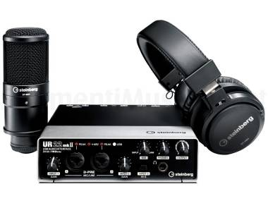 Steinberg Ur22 Mkii Recording Pack - Kit Home Recording Con Interfaccia  Audio 80319b3f77b9