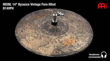 "Meinl Byzance Vintage Pure Hi Hat Charleston 14"" (B14VPH) Spedito Gratis"