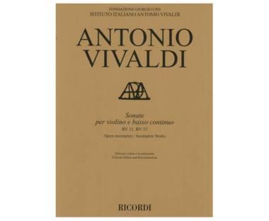 Hal Leonard Sonate per violino e basso continuo RV11, RV 37 Antonio Vivaldi