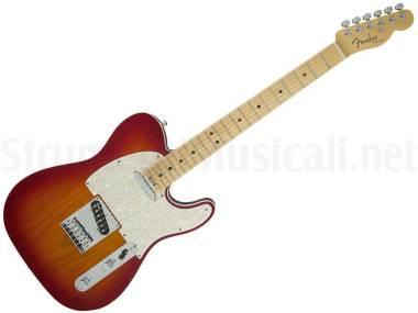 Fender American Elite Telecaster Mn Aged Cherry Burst - Chitarra Elettrica Cherry Burst