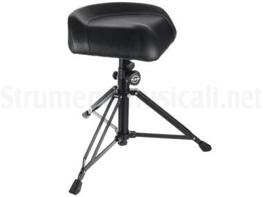 Konig & Meyer 14055 Drummer's Throne Nick Black Imitation Leather - Sgabello Per Batteria In Pelle S