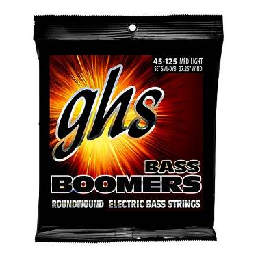 GHS GHS-5ML-DYB Bass Boomers - Medium Light - Standard Long Scale 45-125