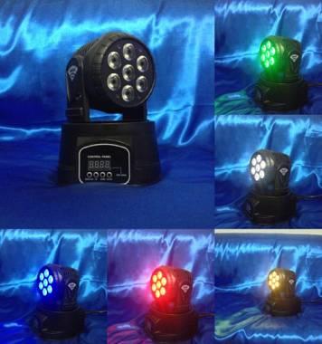 moving head wash led 7x12 4in1 rgbw full color mini teste mobili dj effetti