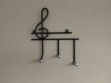 appendi chiavi ferro battuto con chiave di violino