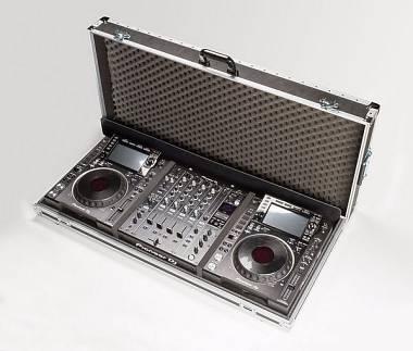 FLIGHTCASE DJ AMABILIA per PIONEER CDJ 2000 NXS2 NEXUS2 + Mixer DJM-900 NXS2