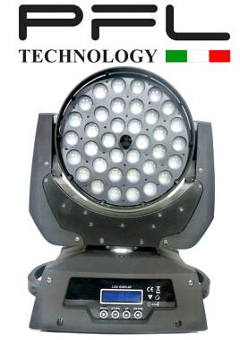 Testa mobile Wash 36 x 10 Watt RGBW 4 in 1 ZOOM    PFL TECHNOLOGY OFFERTA NUOVO