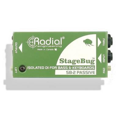 Radial SB-2 StageBug DI BOX DIRECT BOX PASSIVA PER BASSO E TASTIERE
