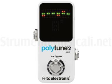 Tc Electronic Polytune 2 Mini - Accordatore Polifonico Per Chitarra E Basso Bianco