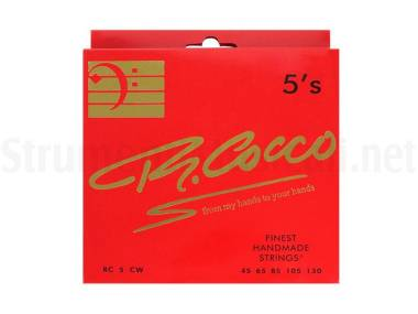 Cocco Rc5cw - Corde Per Basso Elettrico 5 Corde Stainless Steel Round Wound 045/130