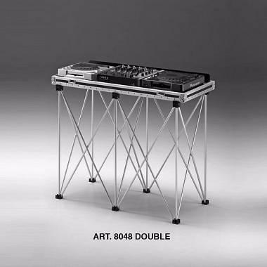 Struttura Supporto alluminio doppia per valigie DJ Amabilia prof48,5cm LMin 95cm