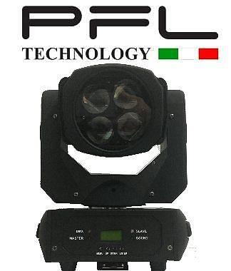 Testa Mobile Super Beam Led 4 x 25 W  PFL TECHNOLOGY OFFERTA NUOVO
