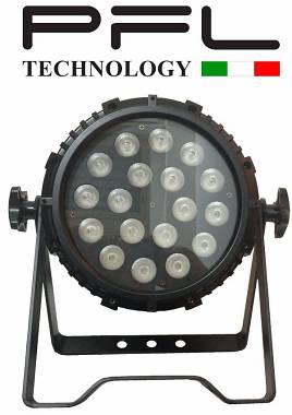 PAR LED 18 X 10 W  RGBW 4 in 1 IP65  PER ESTERNO
