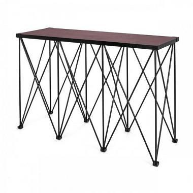Tavolo con struttura riser richiudibile per dj Amabilia 50x142 h80cm Nero