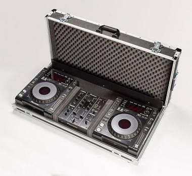 Custodia AMABILIA FLIGHT CASE per mixer DJM350 + 2 lettori PIONEER CDJ850 K