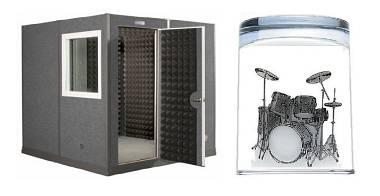 BOX INSONORIZZATO BEATTOX 2x2 PER MUSICISTI-ISOLA 40dB-MONTAGGIO TIPO IKEA