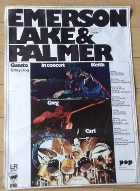 Manifesto originale Emerson, Lake and Palmer in Tournè nel 1973- ULTIMO RIBASSO-