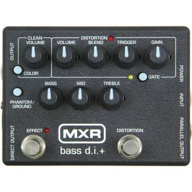 DUNLOP MXR - M-80 Bass D.l. + DIRECT BOX CON DISTORSIONE PER BASSO effetto a pedale per basso elettr