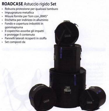 Roadcase Custodie rigide per batteria: Road Case 22,10,12,14 (timpano)