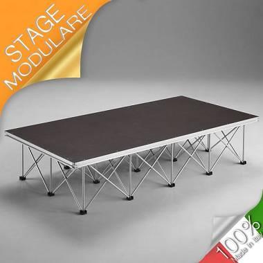 2x1 STAGE AMABILIA PALCO PEDANA MODULARE 200 x100 H 40 cm Strutture modulari