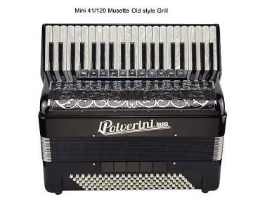L. Polverini 1889 Fisarmonica Accordion M120 Compact 41/120 Musette