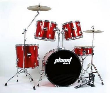 Planet Drum P-2000 - batteria acustica completa -  rosso metallizzato